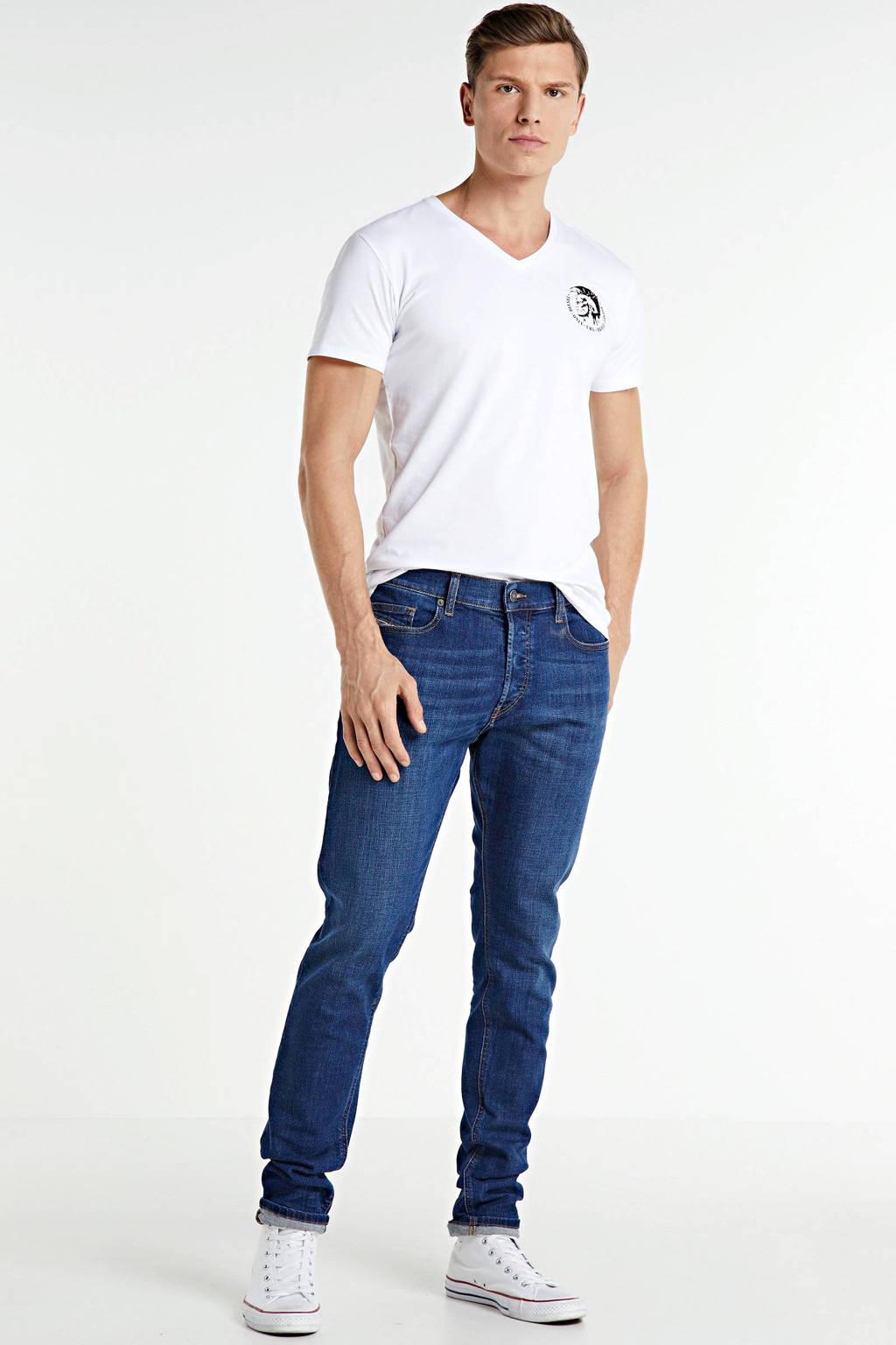 Diesel T-shirt (set van 3), Wit/donkerblauw/zwart