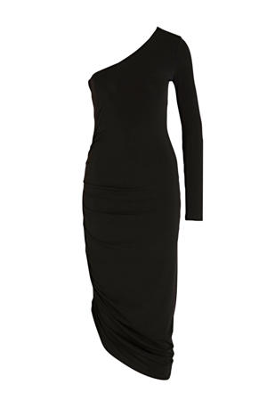 assymetrische jurk zwart