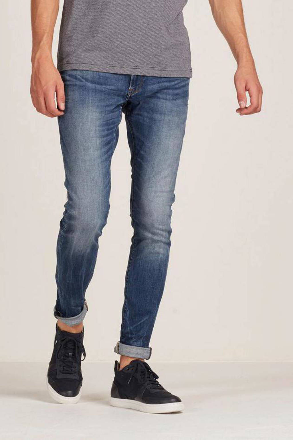 G-Star RAW skinny fit jeans 3301 deconstructed medium indigo aged, Medium indigo aged