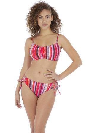 gestreept strik bikinibroekje Bali Bay oranje/roze/bruin