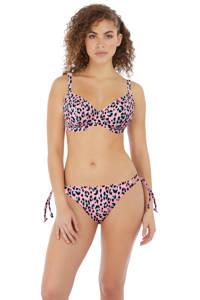 Freya beugel bikinitop Cala Fiesta met panterprint roze/blauw, roze/blauw/geel/groen