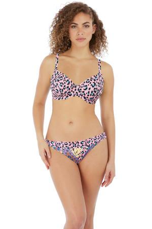 bikinibroekje Cala Fiesta met all over print roze/blauw