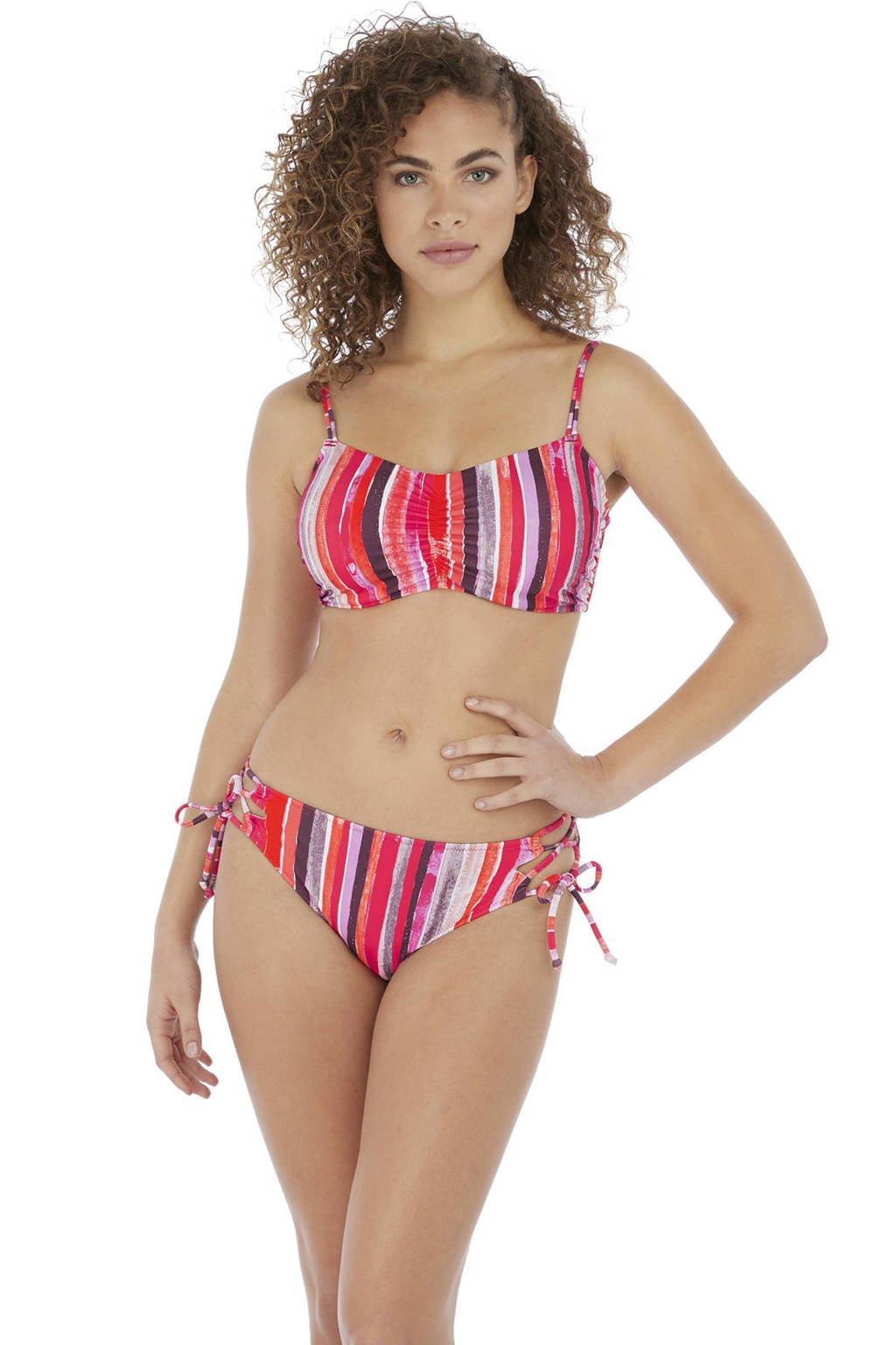 Freya gestreepte beugel bikinitop Bali Bay oranje/roze/bruin