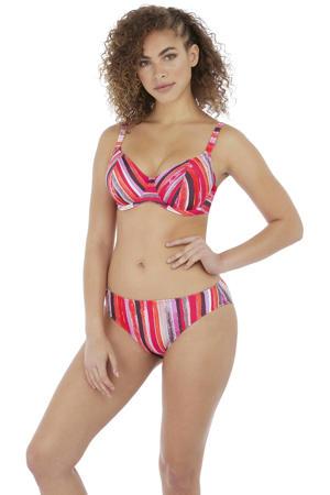 gestreepte beugel bikinitop Bali Bay oranje/roze/bruin