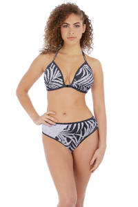 Freya bikinibroekje Gemini Palm met all over print zwart/wit, Zwart/wit