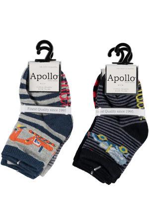 sokken - set van 6 zwart/grijs