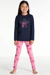 Cars pyjama Isaura met all over print roze/donkerblauw, Roze/donkerblauw