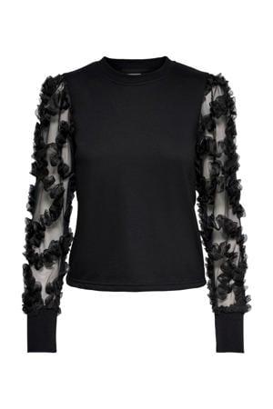 semi-transparante trui Fairview zwart