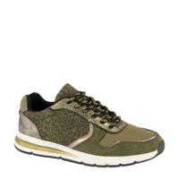 Graceland   sneakers met panterprint groen, Groen/Metallic