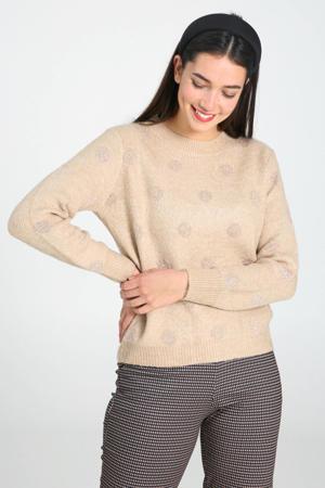 trui met stippen beige/goud