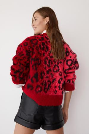 trui met panterprint rood