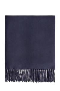 Mango Man sjaal met franjes marine, Marine