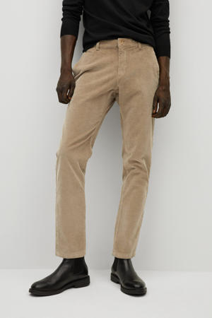 corduroy tapered fit chino beige