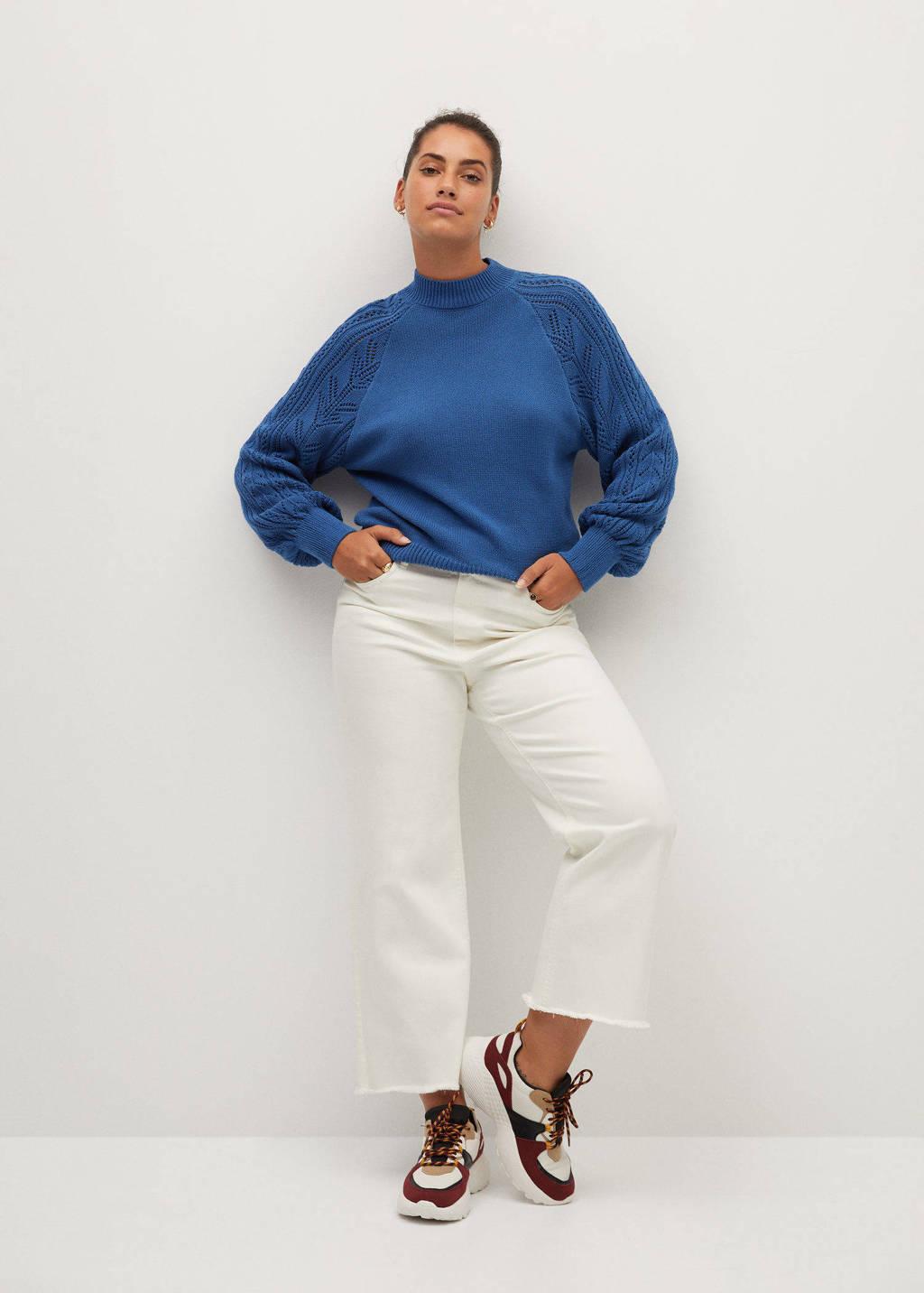 Violeta by Mango gebreide trui blauw, Blauw