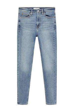 high waist skinny jeans Soho light blue denim