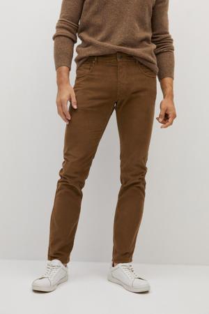 corduroy slim fit broek bruin