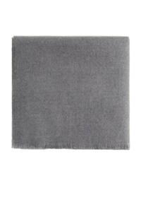Mango Man sjaal met franjes grijs, Grijs