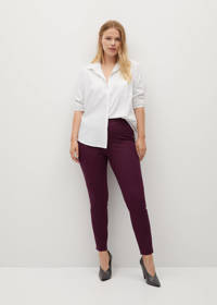 Violeta by Mango legging donkerrood, Donkerrood