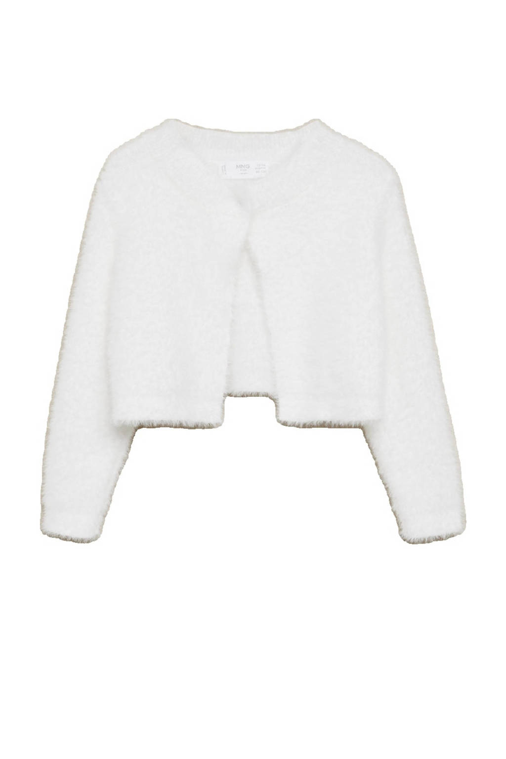 Mango Kids imitatiebont vest wit, Wit