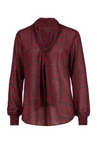 Expresso top met all over print robijn rood, Robijn rood