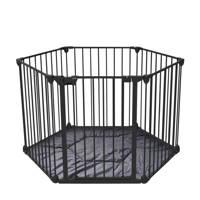 Noma 6-delig veiligheidshek/traphek zwart, Zwart
