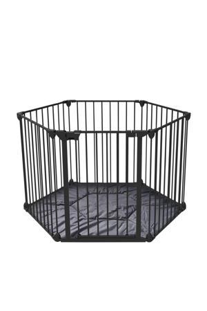 6-delig veiligheidshek/traphek zwart