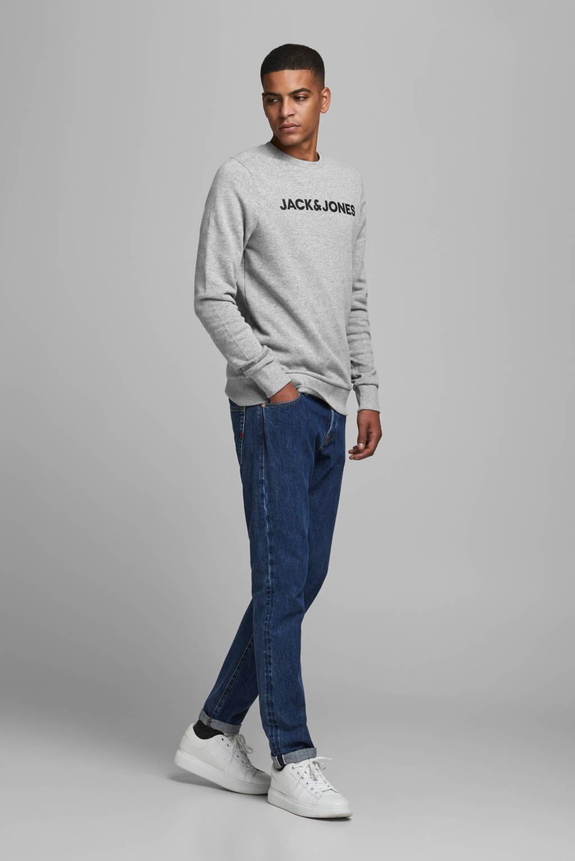 JACK & JONES sweater met logo grijs, Grijs