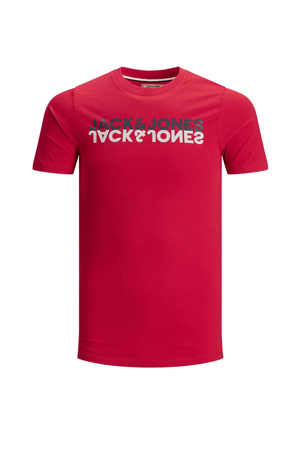 JACK & JONES T-shirt met logo rood, Rood