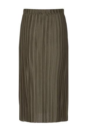 plissé rok SC-KIRIT 6 van gerecycled polyester donkergroen