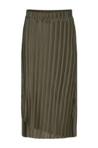 Soyaconcept plissé rok SC-KIRIT 6 van gerecycled polyester donkergroen, Donkergroen