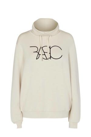 sweater SC-BANU 22 met tekst offwhite