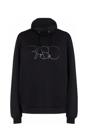 sweater SC-BANU 22 met tekst zwart