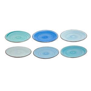Ontbijtborden Ocean Blue (Ø19 cm)(6 stuks)