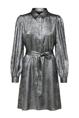 blousejurk Aurelia met ceintuur zilver