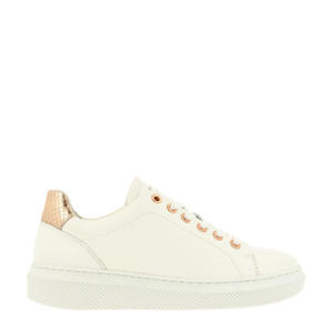 bullboxer   leren sneakers off white/roségoud