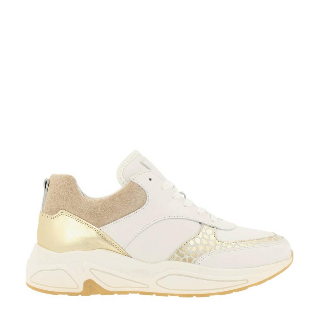 bullboxer   sneakers met dierenprint wit/goud, Wit/goud