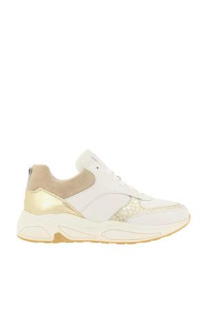 bullboxer   sneakers met dierenprint wit/goud