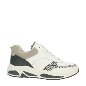 bullboxer   sneakers met dierenprint wit