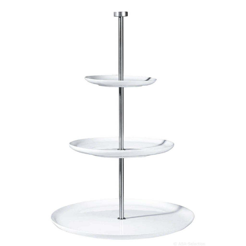 ASA Selection Etagere Grande 3 Laags Rond, Wit