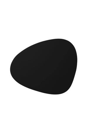Placemat Leer Softbuck Zwart (37x44 cm)