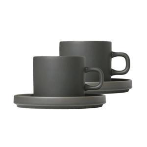 Koffie Kop & Schotel Pilare Agave Green (20 cl) (2 sets))