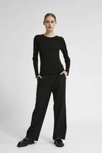 SELECTED FEMME t-shirt zwart, Zwart