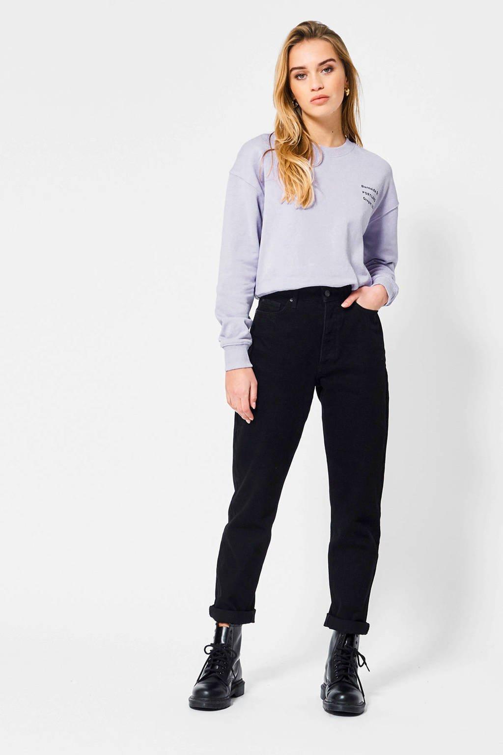 America Today regular fit sweater Sienna met tekst pale lilac, Pale Lilac