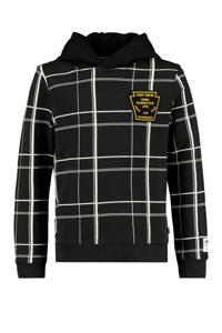 America Today Junior geruite hoodie Saa zwart/wit/geel, Zwart/wit/geel