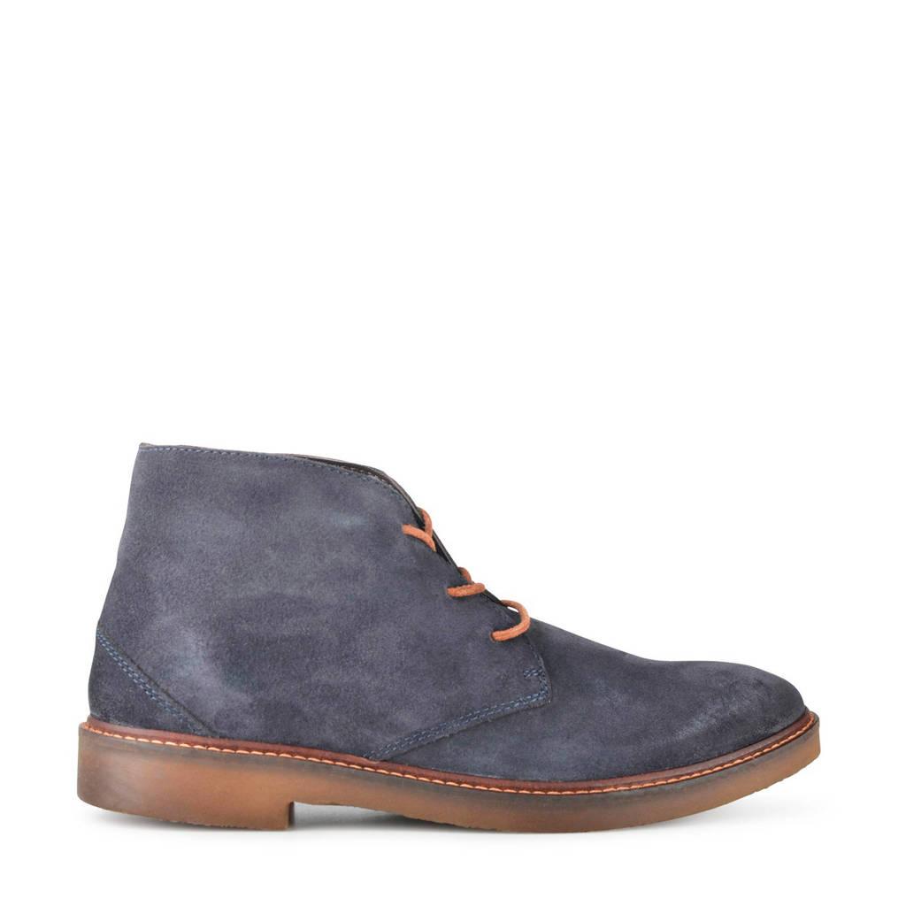 PS Poelman Halloween  suède desert boots blauw, Blauw