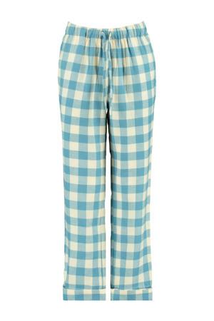 pyjamabroek met ruit dessin blauw/ecru