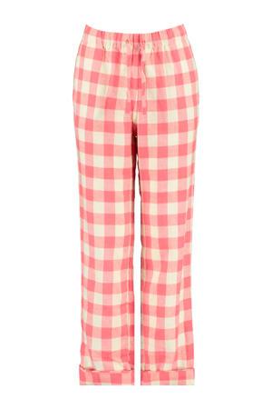 pyjamabroek met ruit dessin rood/ecru