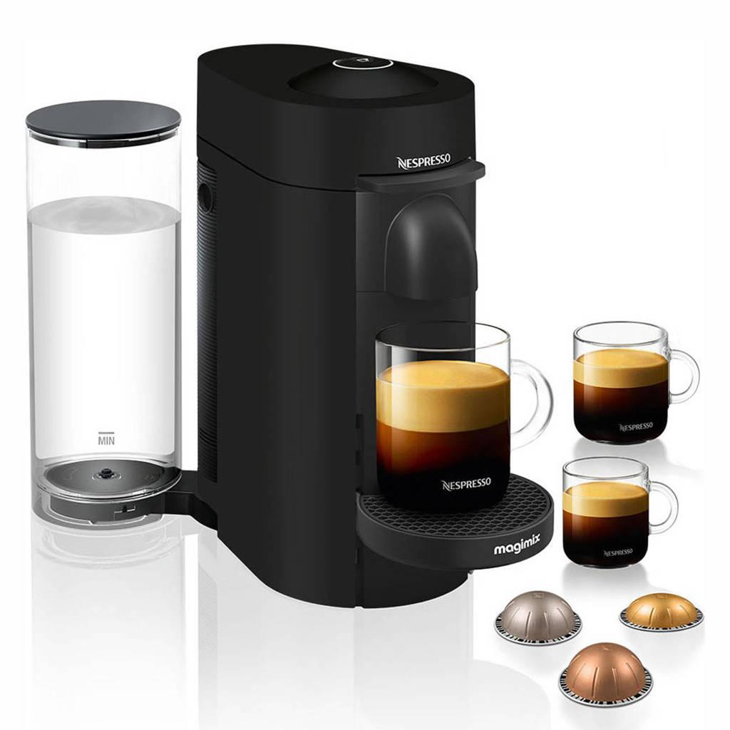 Magimix VertuoPlus Deluxe koffieapparaat (mat zwart), Mat zwart