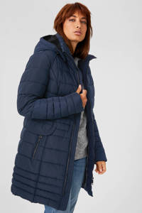 C&A The Outerwear gewatteerde jas donkerblauw, Donkerblauw
