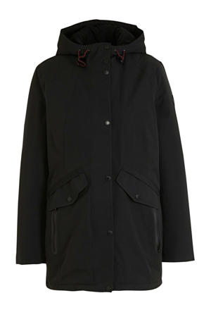 softshell jas zwart/rood